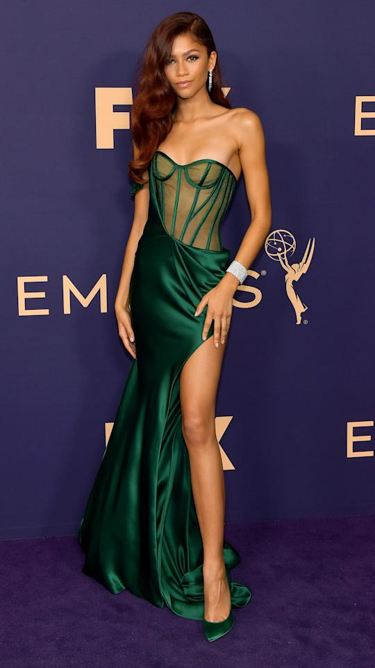 Zendaya was the epitome of glam in this green gown.