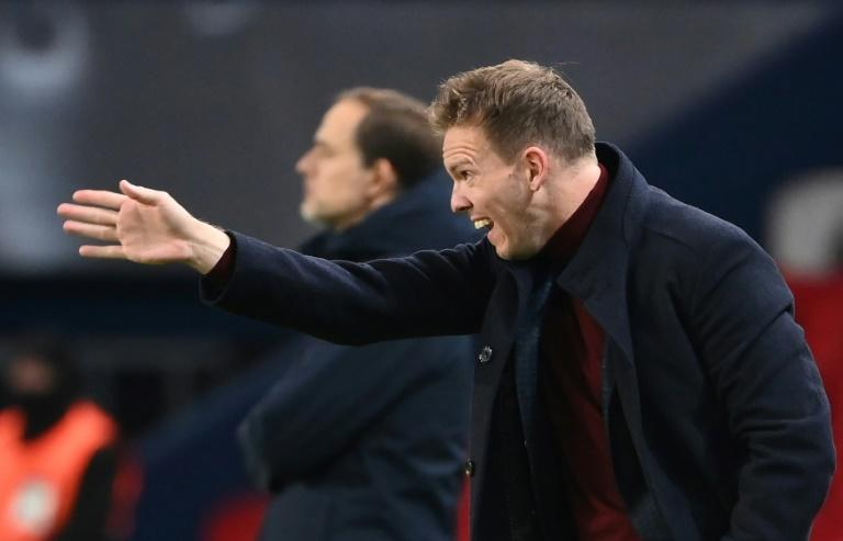 Out of the shadows: Julian Nagelsmann faced Thomas Tuchel again in the Champions League in November after losing to his former mentor in the semi-finals in August