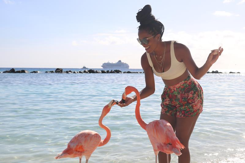 Rachel Lindsay and Bryan Abasolo spent their first anniversary in Aruba. (Photos: Aruba Tourism Authority)