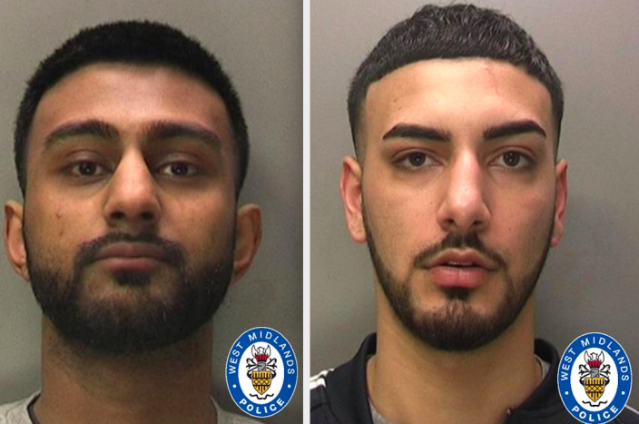 Arbaaz Chauhan (left) and Shaan Khanyal (right) were jailed for nearly 20 years between them. (West Midlands Police)