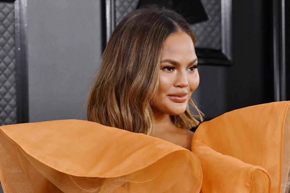 Chrissy Teigen, 35, was spotted on husband John Legend's Instagram account this weekend. Teigen has stayed mum on social media lately as a result of the revelations that she cyber-bullied Courtney Stodden. (Photo: Frazer Harrison/Getty Images for The Recording Academy)
