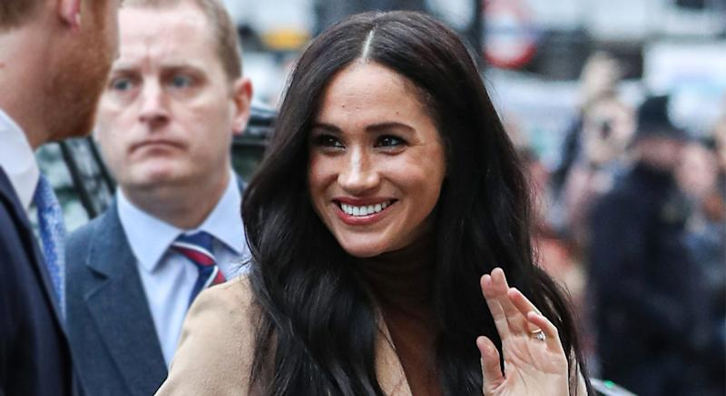 Meghan Markle and Prince Harry made their first engagement of 2020 on Tuesday. [Photo: Getty]