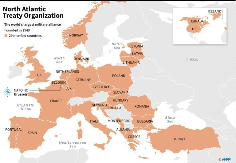 The countries in NATO