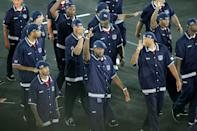 <p>Just one more look at these uniforms (and those hats) from the front. </p>