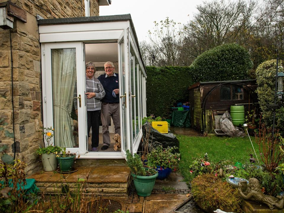 <p>Sheila and Philip Herbert at their home in Otley, near Leeds</p> (Alex Cousins/SWNS)