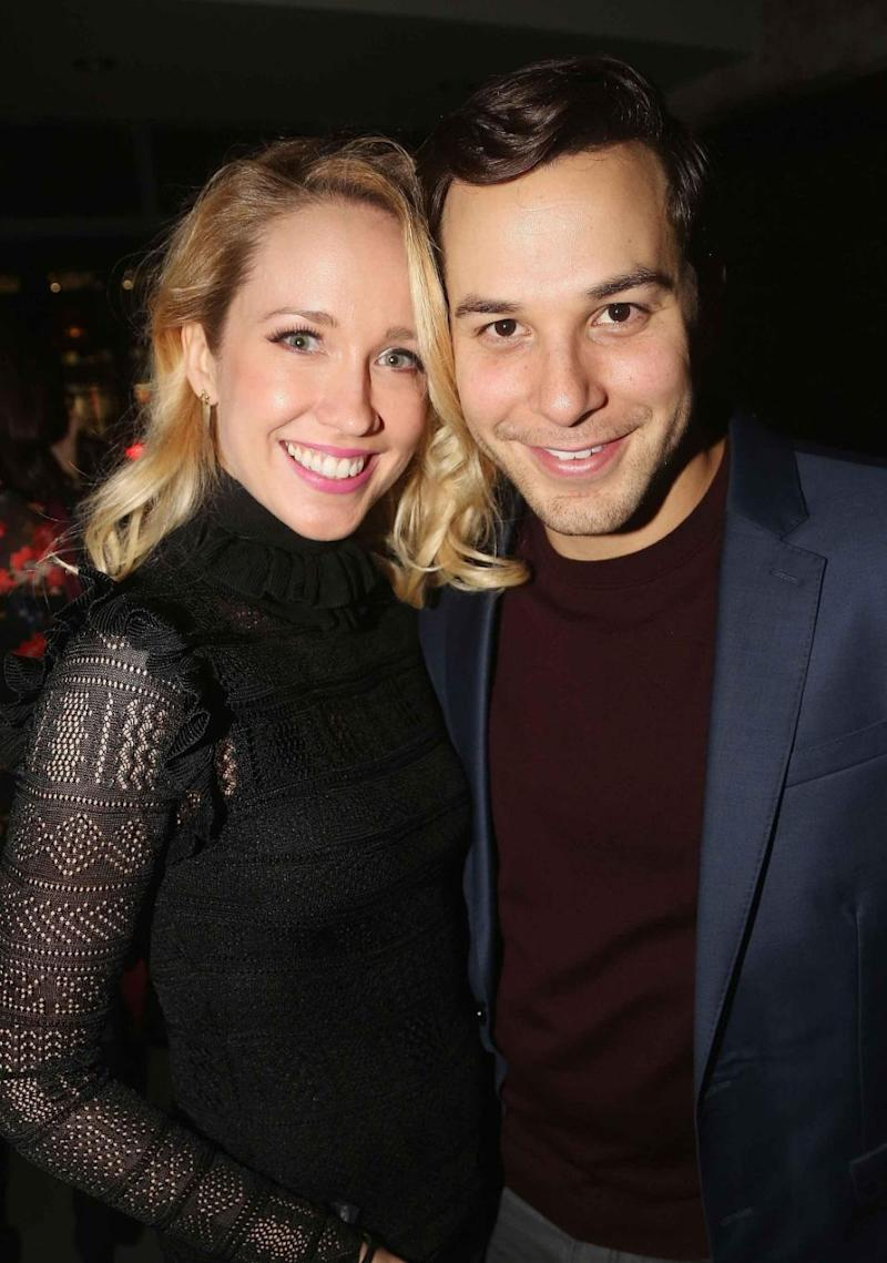 Skylar and Anna are pictured here looking loved-up in New York City earlier this month. Source: Getty