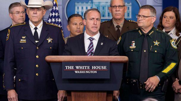 PHOTO: Matthew Albence, acting director of the US Immigration and Customs Enforcement participates in a media conference in the James S. Brady Press Briefing Room at the White House, Sept. 26, 2019. (Erik S. Lesser/EPA via Shutterstock )