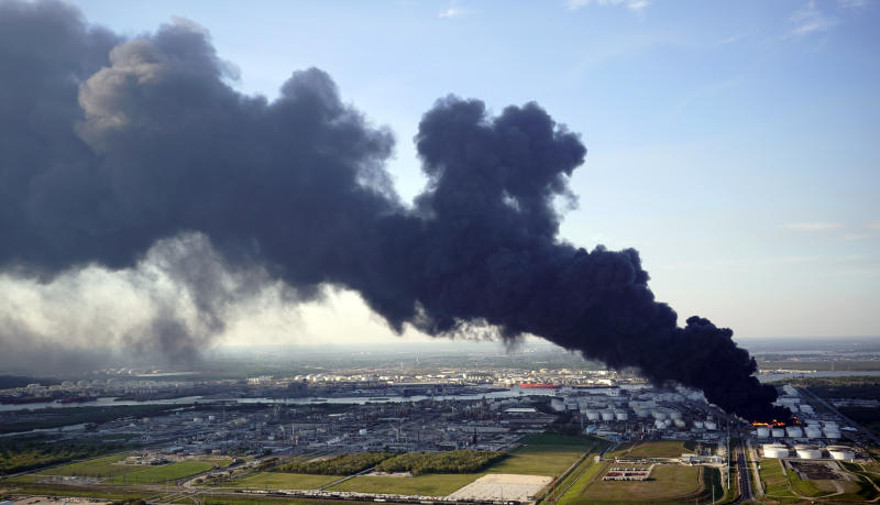 Petrochemical Fire Texas Cleanup