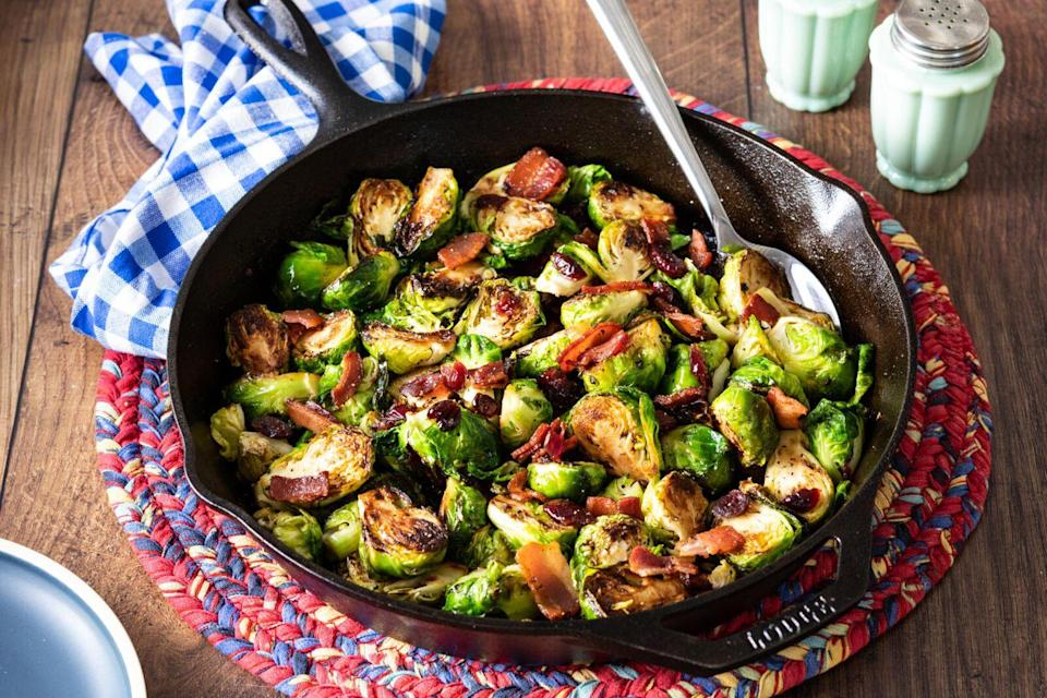 <p>This 35-minute dish has three flavors you'll love: sweet, salty, and smoky. It's impressive enough for a holiday dinner but simple enough for busy weeknights. </p>