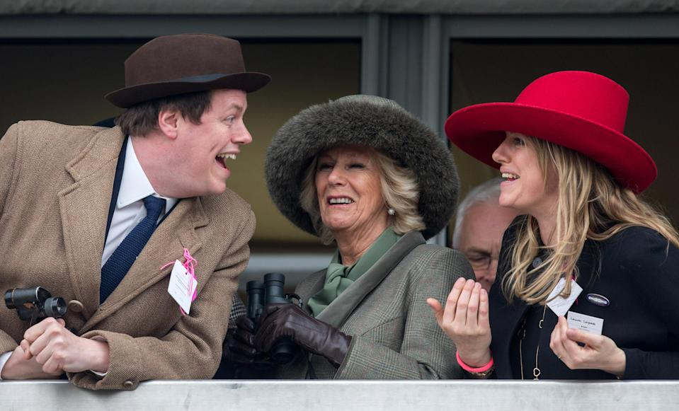 Laura and Tom are Camilla's children from her marriage to Andrew Parker Bowles. Photo: Getty Images