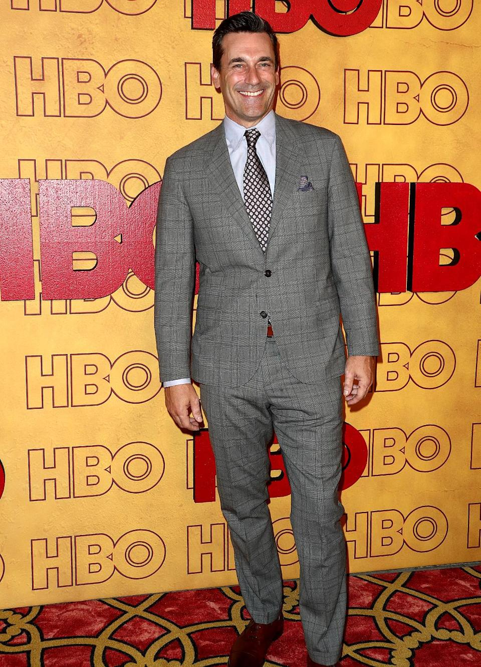 <p>Jon Hamm at HBO's Post Emmy Awards Reception at the Plaza at the Pacific Design Center. (Photo: Frederick M. Brown/Getty Images) </p>