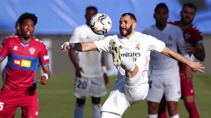 Striker Real Madrid, Karim Benzema (AP/Bernat Armangue)