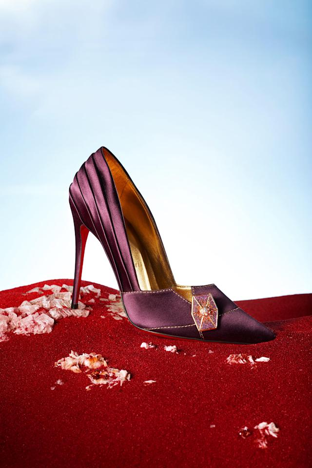 The Admiral Holdo shoe from Christian Louboutin's collection for <i>Star Wars: The Last Jedi</i>. (Photo: Guillaume Fandel for Disney)