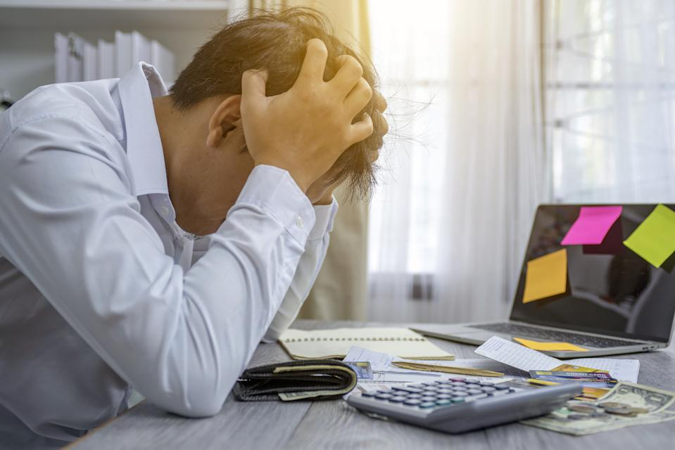 More than a third (36%) of Brits in a survey admitted to worrying about finances every day since March 2020. Photo: Getty