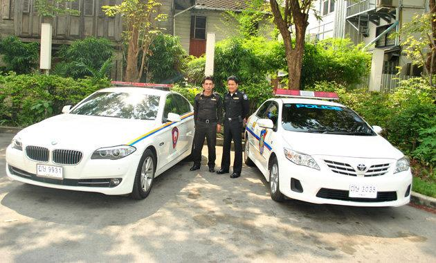 The Royal Thai Police have in their fleet BMW 5 Series, Toyota Camry and Honda Accord.