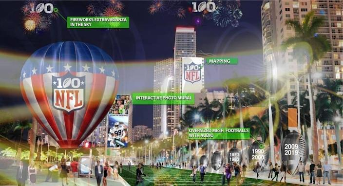 Said Rodney Barreto, the chairman of the South Florida 2020 Super Bowl Host Committee: 'We're going to use the waterfront. We're going to have concerts. We'll try to build a temporary marina to bring big boats in.'