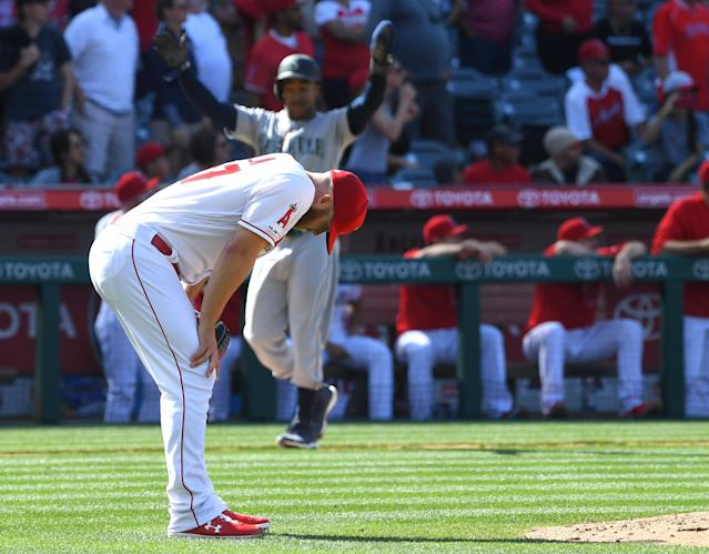 Cody Allen was designated for assignment just three months into his disastrous first year with the Angels. (Photo by Jayne Kamin-Oncea/Getty Images)