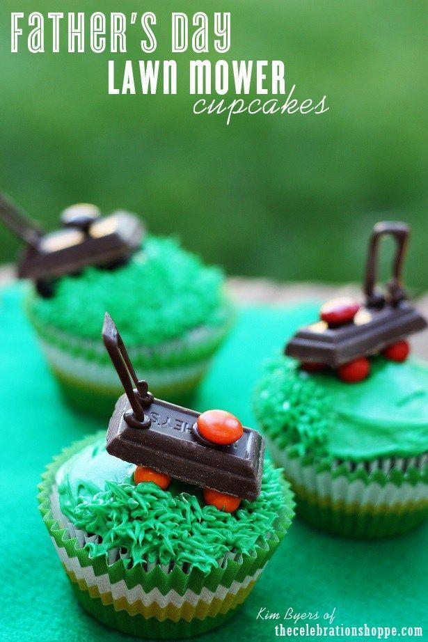 """<p>A day off for dad? He's probably missing his BFF, John Deere. These cupcakes, which feature chocolate versions of his lawn mover, are the next best thing. </p><p><em><a href=""""https://thecelebrationshoppe.com/fathers-day-2"""" rel=""""nofollow noopener"""" target=""""_blank"""" data-ylk=""""slk:Get the recipe from The Celebration Shoppe »"""" class=""""link rapid-noclick-resp"""">Get the recipe from The Celebration Shoppe »</a></em></p>"""
