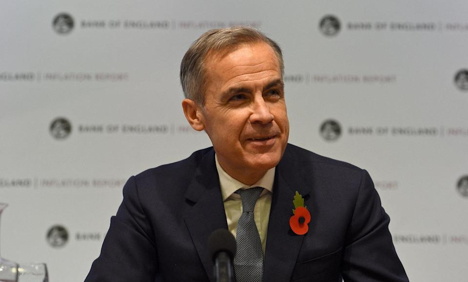 Bank of England governor Mark Carney speaks at a news conference in London on Thursday. Photo: Kirsty O'Connor/Reuters
