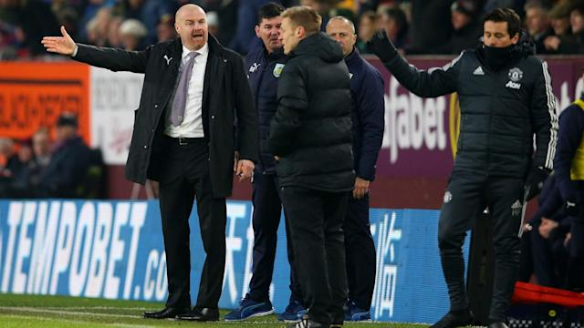 Manchester United's win at Burnley left Sean Dyche irritated to see a good performance from his side against a top team go unrewarded.