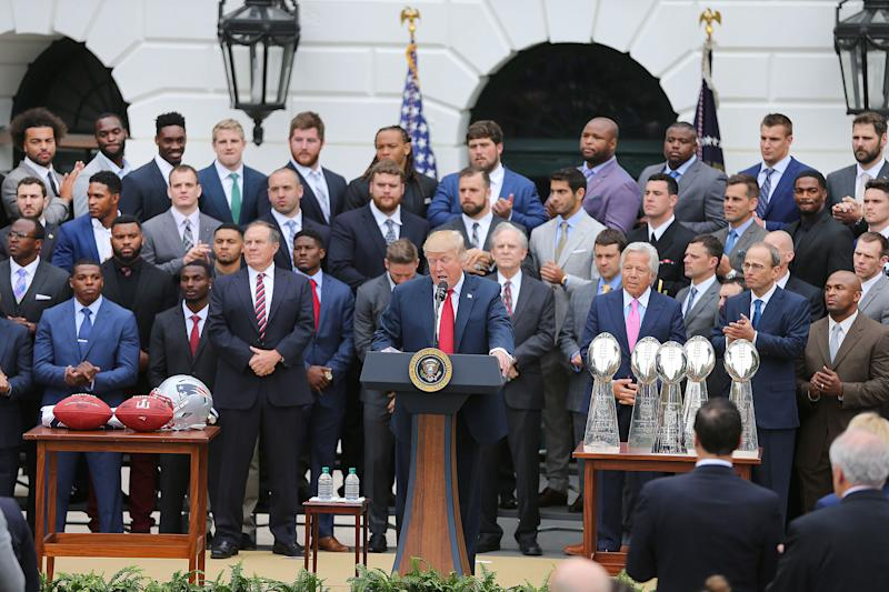 Patriots Celebrate Super Bowl At Trump's White House -- Some Of Them, Anyway