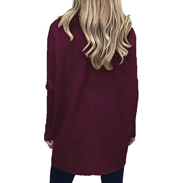 What a maroon! The gorgeous hue here, not the model. (Photo: Amazon)