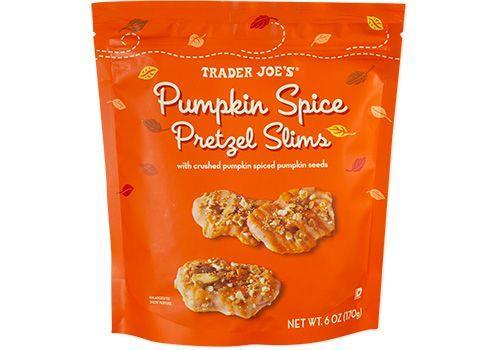 <p><strong>TJ's classic pretzel slims are filled with spices, lemon peel and a pumpkin spice-infused yogurt coating in this seasonal version. </strong>You'll love this crunchy and chewy treat that provides the perfect combination of salty and sweet.</p>