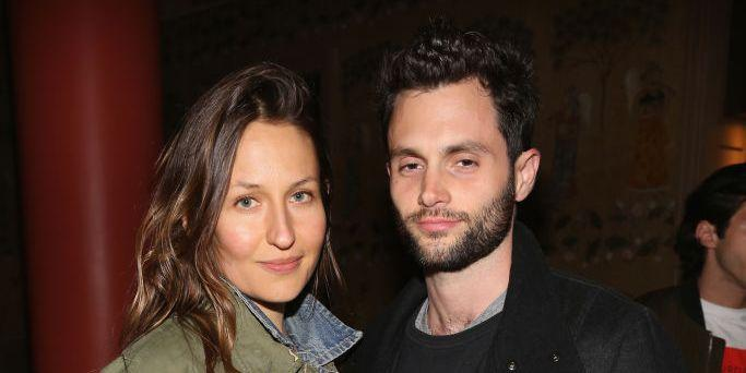 Domino Kirke shares first pictures of Penn Badgley with their newborn