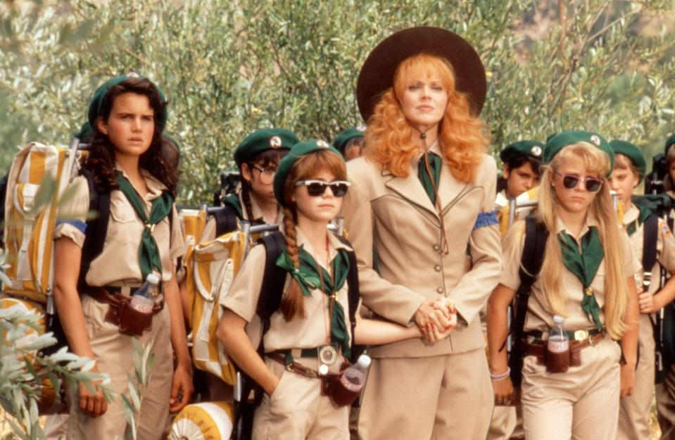 """<p>If you're feeling nostalgic about summers spent going on adventures with your Girl or Boy Scout troop, then the only movie for you is <em>Troop Beverly Hills.</em> Shelley Long stars in this heartfelt comedy as a bored housewife fumbling her way through teaching a crew of girls wilderness skills.</p> <p><a href=""""https://www.amazon.com/Troop-Beverly-Hills-Shelley-Long/dp/B001DUF0TW"""" rel=""""nofollow noopener"""" target=""""_blank"""" data-ylk=""""slk:Available to rent on Amazon Prime Video"""" class=""""link rapid-noclick-resp""""><em>Available to rent on Amazon Prime Video</em></a></p>"""