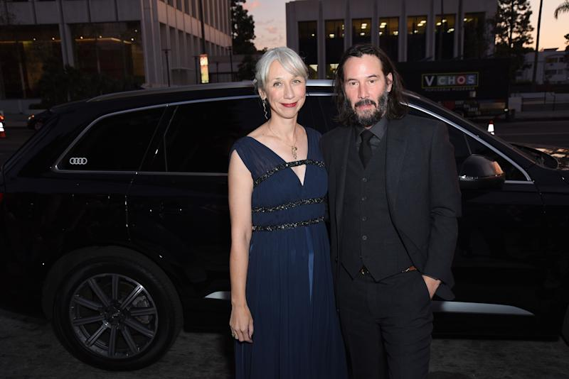 Keanu Reeves And Alexandra Grant Hold Hands At LACMA Red Carpet