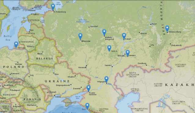 Map made using National Geographic's mapmaker tool. (Henry Bushnell/Yahoo Sports)