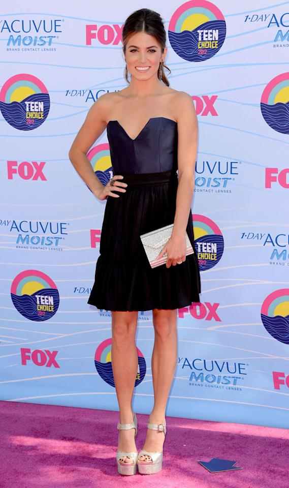 Nikki Reed arrives at the 2012 Teen Choice Awards at Gibson Amphitheatre on July 22, 2012 in Universal City, California.