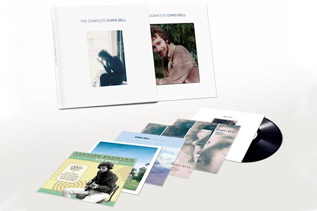 <p>Although Alex Chilton was better known, Chris Bell was also a major creative force behind the late, great Big Star. He only managed to release a single under his own name before his tragic death at the age of 27 in a 1978 car accident, but he recorded a treasure trove of material. Reissue specialists Omnivore have compiled it in a six-album boxed set that features Bell's pre- and post-Big Star recordings, on the albums <em>Looking Forward: The Roots of Big Star</em>, Rock City's <em>See Seven States</em>, and the previously released <em>I Am the Cosmos</em>. Also included is the two-disc <em>Outtakes & Alternates</em>. The set is completed with an interview disc exclusive to the vinyl boxed set and liner notes by album co-producer Alec Palao and Replacements biographer Bob Mehr, along with newly released photos. (Photo: Omnivore Recordings) </p>