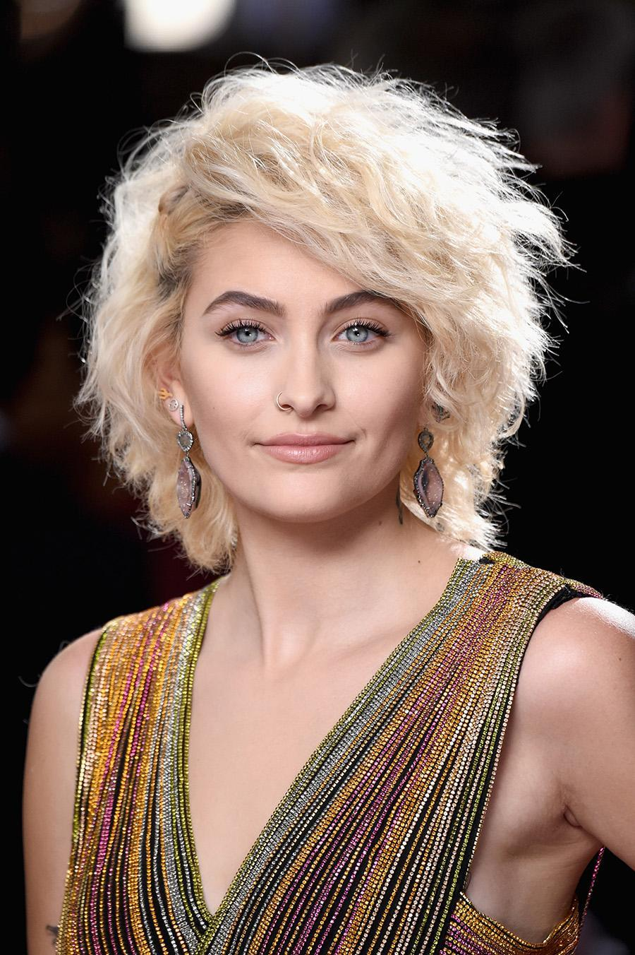 <p>Jackson wowed with platinum blonde cropped waves and clean no-makeup makeup. (Photo: Getty Images) </p>