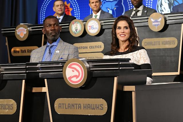 Jami Gertz at the 2018 NBA draft lottery. (Photo: Getty Images)