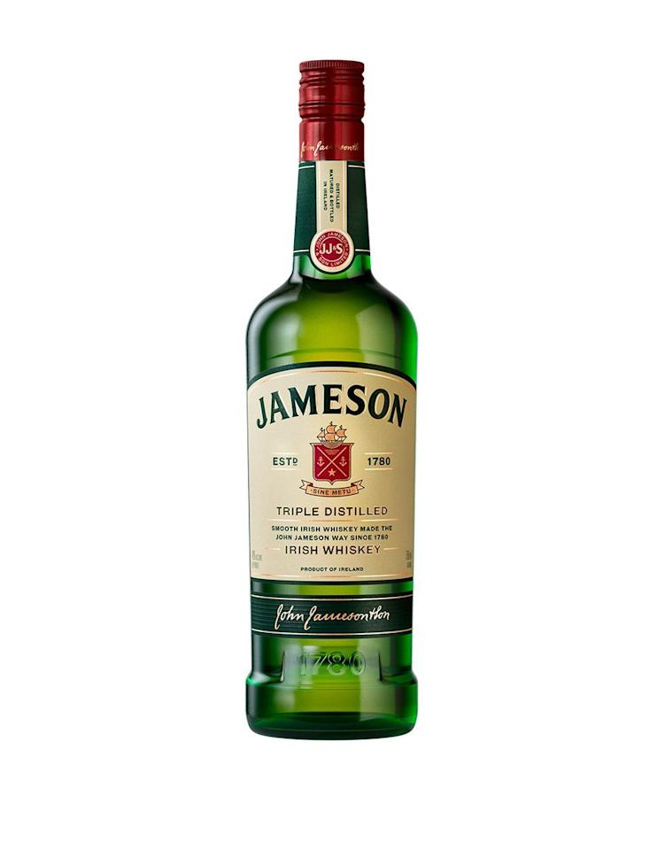 """<p><strong>Jameson</strong></p><p>drizly.com</p><p><strong>$9.99</strong></p><p><a href=""""https://go.redirectingat.com?id=74968X1596630&url=https%3A%2F%2Fdrizly.com%2Fliquor%2Fwhiskey%2Firish-whiskey%2Fjameson-irish-whiskey%2Fp5138%3Fdrz_lat%3D43.6330203%26drz_lng%3D-74.6273087%26drz_nhd%3DNY%26drz_sids%255B%255D%3D3544%26gclid%3DCjwKCAiA7t3yBRADEiwA4GFlIx1Y7mJbW0x8JGrissuY1Ftkcs2KnZjH_Qvkp6UPHGCkNp3PT_S7ihoCnCwQAvD_BwE%26p%3D9.99%26s%3Dtrue%26variant%3D6900&sref=https%3A%2F%2Fwww.delish.com%2Fentertaining%2Fg31132182%2Fbest-irish-whiskey%2F"""" target=""""_blank"""">BUY NOW</a></p><p>OK, you knew it was coming, so why not kick off the list with this fan-fave? This brand has been around since 1780 and for a good reason. People love it for its high-quality (but reasonable) price point. It's got notes of honey and malted barely, which makes it totally easy to sip and a crowd favorite. If this isn't at your St. Patrick's Day party, WYD?</p>"""