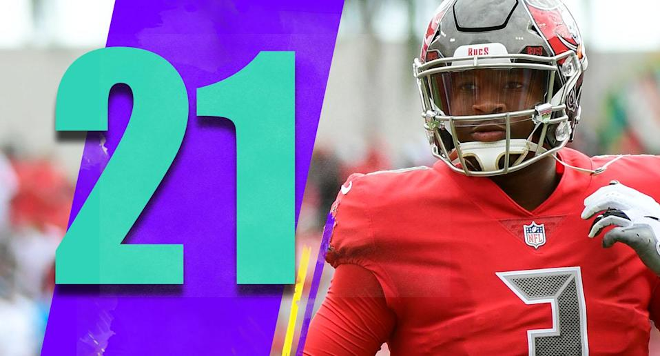 <p>Two starts for Jameis Winston on his latest chance: 49-of-68, 561 yards, four touchdowns, zero interceptions and a 116.1 passer rating. This is going to be one interesting ride, as it pertains to his future. (Jameis Winston) </p>