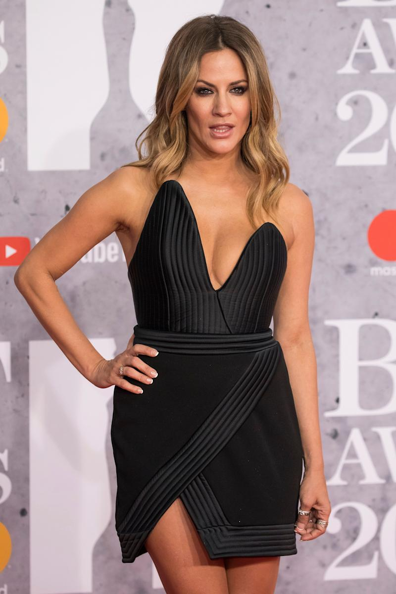Caroline Flack at last year's Brit Awards (Photo: Vianney Le Caer/Invision/AP)