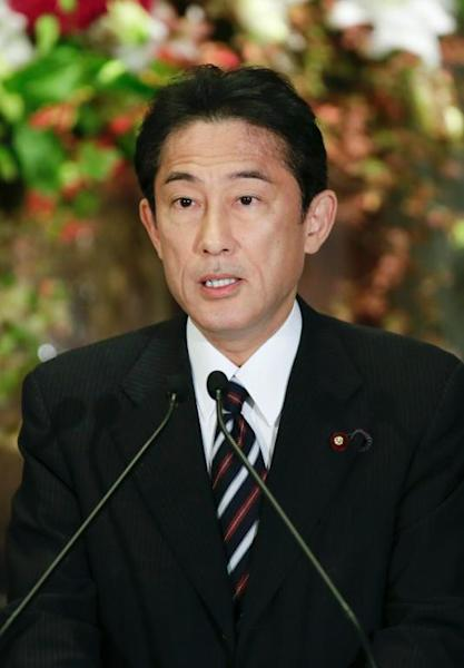 Japanese Foreign Minister Fumio Kishida speaks during a press conference in Tokyo, on November 2, 2013