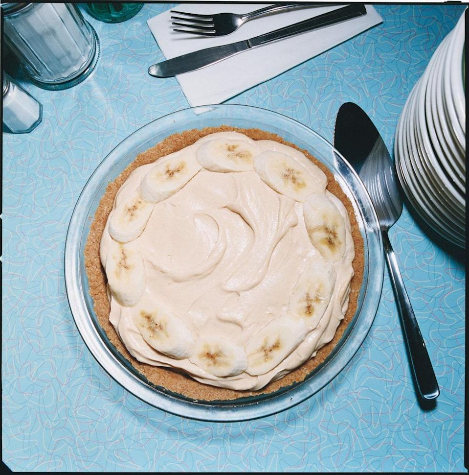 """Peanut butter lovers will go bananas over this pie. If you want a banana cream pie that isn't too sweet and has a good balance and texture, try this recipe. We think it's pretty close to perfect. <a href=""""https://www.epicurious.com/recipes/food/views/peanut-butter-banana-cream-pie-352677?mbid=synd_yahoo_rss"""" rel=""""nofollow noopener"""" target=""""_blank"""" data-ylk=""""slk:See recipe."""" class=""""link rapid-noclick-resp"""">See recipe.</a>"""