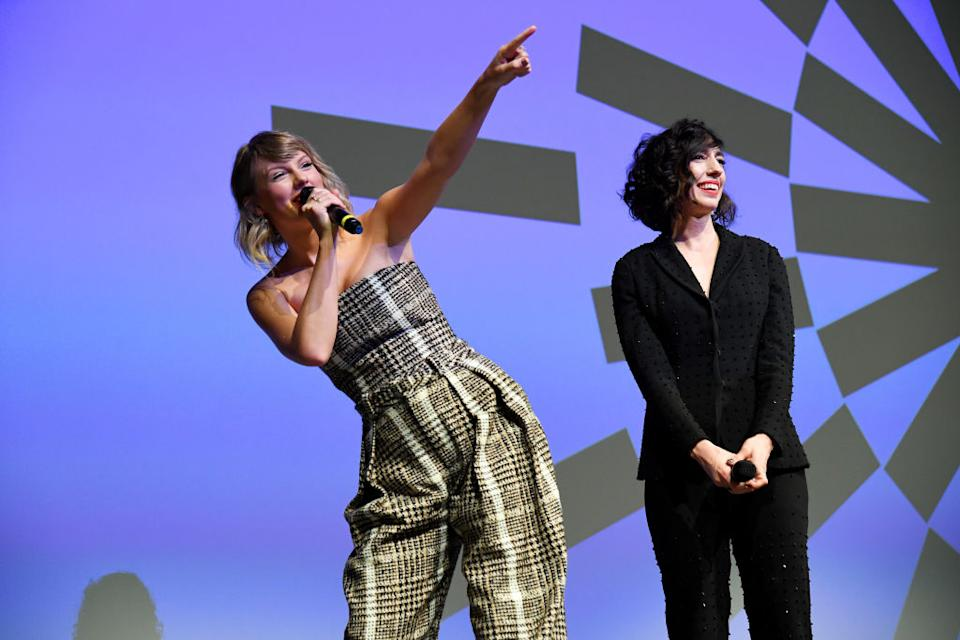 """Taylor Swift and Lana Wilson promote """"Miss Americana"""" at this year's Sundance Film Festival in Park City, Utah. (Photo: Kevin Mazur/Getty Images for Netfilx)"""