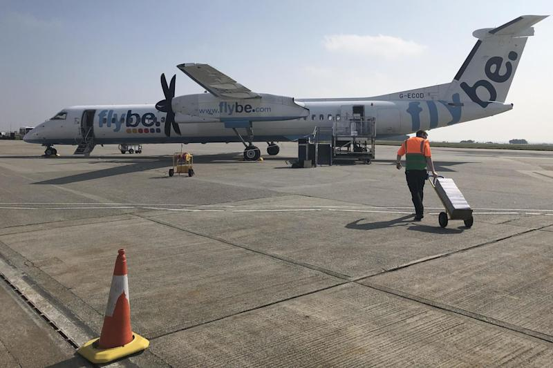 Cornish connection: a Flybe Q400 aircraft at Newquay airport: Simon Calder