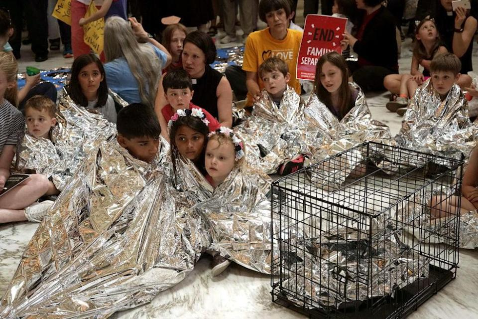 """To draw attention to the Trump administration's detention of immigrant families, some parents are holding """"playdate protests"""" outside Immigration and Customs Enforcement Offices. Read on to learn more."""