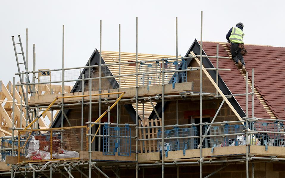 The UK has seen a sharp decline in the completion of new homes since the pandemic began. Photo: PA.
