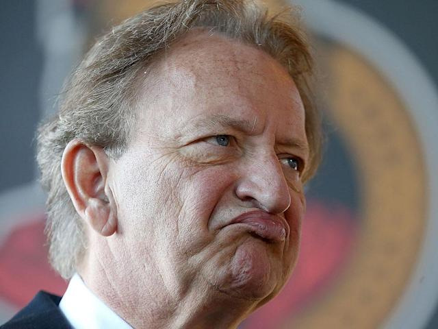Eugene Melnyk came so close to getting through a season without controversy. (Getty)