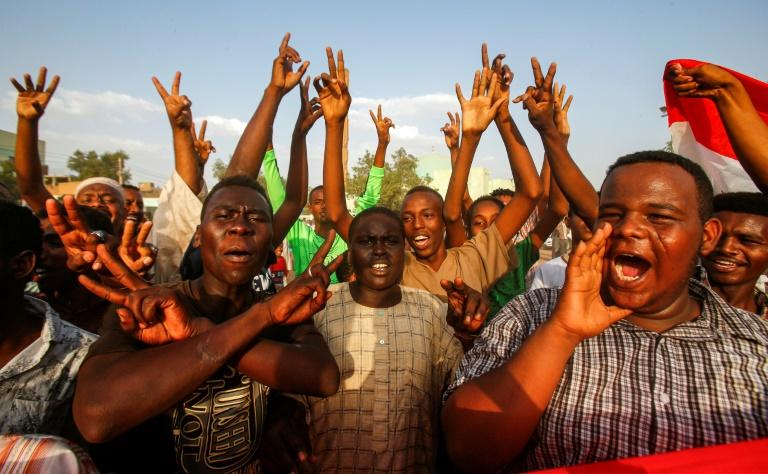 Protests in Sudan first broke out after the government tripled the price of bread, but they swiftly escalated into nationwide rallies against longtime ruler Omar al-Bashir's rule, culminating in his ouster on April 11 (AFP Photo/ASHRAF SHAZLY)