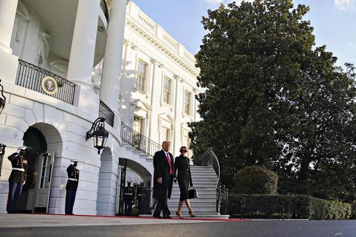 """<p>Trump leaves office amidst an <a href=""""https://people.com/politics/donald-trump-impeached-a-second-time/"""" rel=""""nofollow noopener"""" target=""""_blank"""" data-ylk=""""slk:unprecedented second impeachment"""" class=""""link rapid-noclick-resp"""">unprecedented second impeachment</a> and in the wake of <a href=""""https://people.com/politics/us-capitol-police-officer-dead-after-riots-in-dc/"""" rel=""""nofollow noopener"""" target=""""_blank"""" data-ylk=""""slk:the Capitol riots"""" class=""""link rapid-noclick-resp"""">the Capitol riots</a> this month by a pro-Trump mob, encouraged by months of the president's lies about the results of the November election.</p>"""
