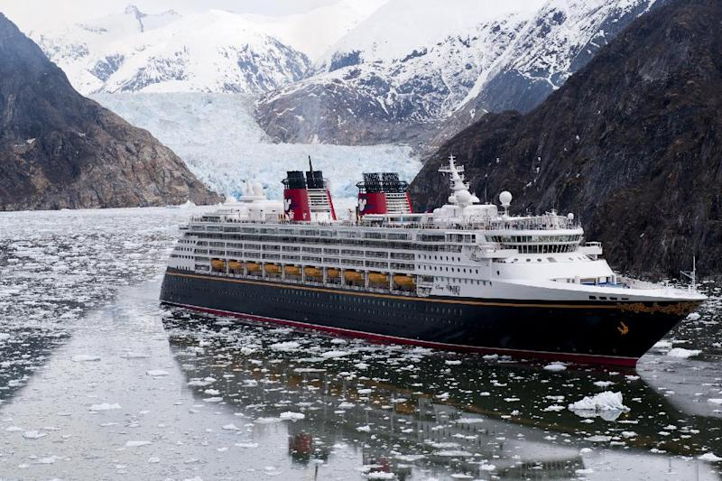 This May 5, 2011 image provided by Disney Cruise Line shows the Disney Wonder ship in Tracy Arm, Alaska. Disney Wonder returns to Alaska for its second season this year, part of a trend in the cruise industry of more cruises heading to the 49th state. (AP Photos/Disney Cruise Line, Diana Zalucky)
