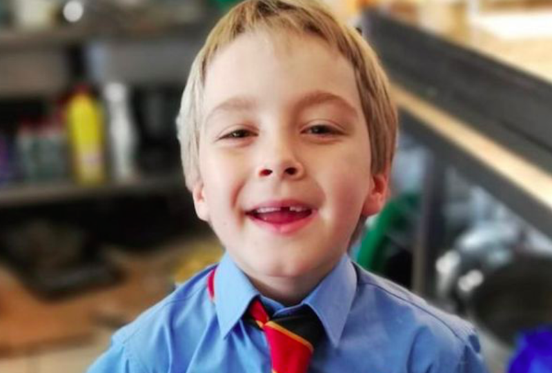 Patryk Milner, seven, who died last week after falling ill at his school. (Reach)