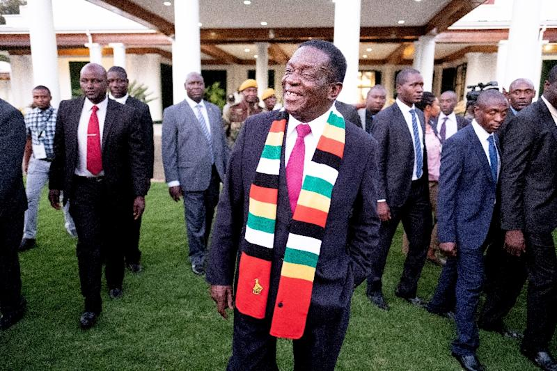 Zimbabwe President Emmerson Mnangagwa Has Defended The Vote And Called For Unity Afp Photo